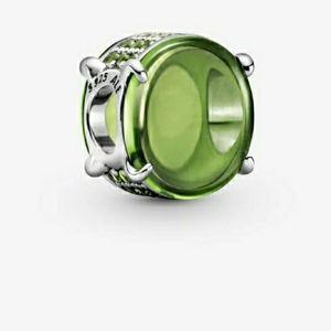 💗Pandora Green Oval Cabochon Charms